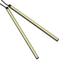 Wholesale 1 pair of cm W DRL LED Daytime Running Lamp Waterproof Ultra Slim Auto COB Light CLT_302