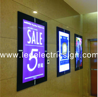aluminum poster frames - Wall Mounted Aluminum Magnetic Frames for Posters Advertising Display with Light Box Aluminum Magnetic Frame Double Side Light Box