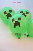 kids toys - DHL Minecraft Creeper Balloon Minecraft JJ blame Party Material Must Haves children kids toys festival accessories J112703