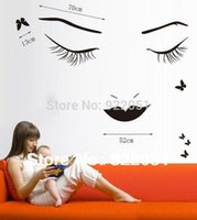 beauty graphics - XY1082 High quality long eyelashes beauty girl DIY Removable Art Vinyl Wall Stickers Decor Mural Decal