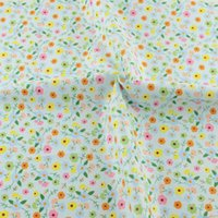 acrylic scrap - Floral design blue cotton fabrics cmx160cm piece quilting for DIY doll s sewing cloth bedding tecido telas scrap booking