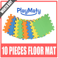 Wholesale Floor mat Interlock material split joint eva puzzle play mat for baby solid color floor yoga mat playmat good design living room