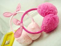 Wholesale Hot sale Korean New Children Earmuffs for Autumn Winter with Cute Rabbit Ears Design Kids Plush Warm Earmuffs Headwear