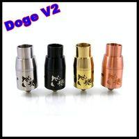 black jesus - Newest Doge V2 Atomizer Doge V2 Rebuildable RDA Doge Tank Dripper colors SS Black Copper Brass fit jesus akuma phenom buster tarsius mod