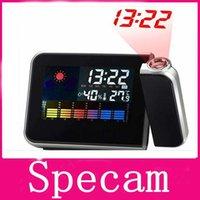plastic table clock - LCD Screen Calendar Digital Alarm Clock Projector Color Display LED Backlight Table Desktop Clock Relogio Digital Despertador