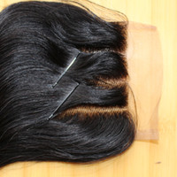 Wholesale 3 Way Part Front Lace top Closure x4 Body Wave Brazilian Natural Color Top Human Hair Closure with Bleached Knots human Hair