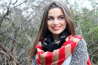 american flag manufacturers - 2016 Foregin Trade New Style Lady Voile American Flag Infinity Scarves W Direct Manufacturer Hot Sale