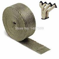 Cheap Natural color titanium fiber 1''x15m High Quality COOL IT exhaust tape Exhaust Wrap Header Wrap