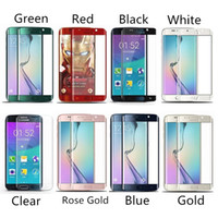 Wholesale 0 MM H Full Screen Cover Curved Side Tempered Glass For Galaxy S7 edge S6 edge S6 edge Plus Whole Screen Curved Protector