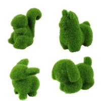 animal land - Delicate Artificial Turf small cute animals decorations animal grass land Reduce the eye fatigue Hot Selling