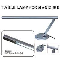 manicure table - silver metal w T5 tulb CE professional nail salon desk table lamp for manicure