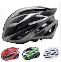 Wholesale 9 Colors Ultralight Vents Brand Cycling Helmet Road Bicycle PVC Carbon Fiber Mountain Bike Gril Helmets Men s Cycle Helmet