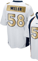 Wholesale 2016 Super Bowl Denver Mens football Jerseys MILLER WARE WILLIAMS ZIMMERMAN Men Size M XXXL