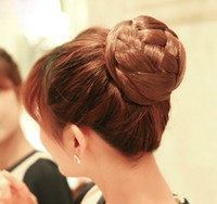 hair bun piece - Hair bun Chignon Hair bun pieces Clip on bun Girl Female Brown Black Fashion dtjf105