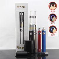 Cheap Evod vv battery with M14 airflow control atomizer e cigarette kit dual coils vaporizer pen electronic cigarette kits e cig ecigar