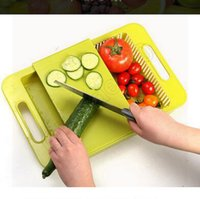 Wholesale 200pcs CCA3600 High Quality Korea Design Creative Kitchen In Cutting Board Wash And Handle Cut Fruit Meat With Sink Drain Chopping Board