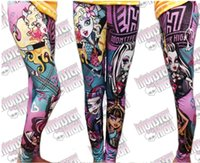 Wholesale 18 OFF hot saleBrand new arrive MONSTER HIGH Children s Pants Girl s Leggings Kids Casual Pencil Pant Fashion Skinny Pants