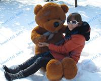 Медведь ног RU-Новое поступление 6 футов МИШКА STUFFED светло-коричневый GIANT JUMBO 72quot; размер: 180см