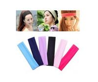 Wholesale 2015 Colors Stretch Headband Sports Yoga hair band Sweat Head Wrap Unisex good Stretch Bandanas cm