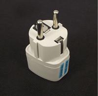 Wholesale 300 AC Power Socket Plug Adaptador UK US AU To EU Plug Adapter Universal EURO Travel Adaptador Converter Electrical Plug