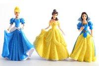 beauty free snow - 15LOT set Snow White Ariel Cinderella Aurora Belle Beauty Doll Belle PVC Action Figures Kids Girls Toys cm