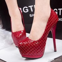 alligator shoes - Fashion Alligator shallow patent leather pumps high heels shoes women eur size