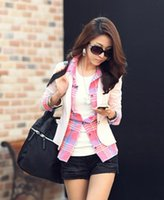 autum jacket - New Fashion Women Blazer Jacket Suit Casual Candy Coat Jacket Single Button Outerwear Woman Blaser Feminino Female Ms Spring and Autum