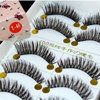 artistic human - Japanese Natural Thick False Eyelashes Artistic Human Hair Best Fake Eyelash Extensions Supplies Y pairs1lot