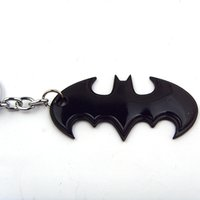 Wholesale New Statement Jewelry Black Batman Keychain Superhero Bat Man Key Chain Ring Men Jewelry Movie Jewelry