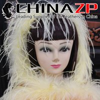 Wholesale Supplier Party Supplies - Gold Supplier CHINAZP Crafts Factory 2yards lot 35G Fantastic Decoration Dyed Ostrich Marabou Feather Boas 10 Colors Available