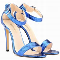 Cheap Sexy Girls Crocodile Grain High Heels Open Toe Ankle Strap Wedges Sandals US4-11 102-3XEY