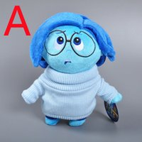 anger games - Retail Pixars Inside Out Plush Toys Sadness Joy Anger Fear Disgust Stuffed Dolls Toy Christmas Gifts For Children Styles