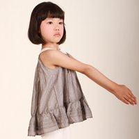 best camisoles - Best Sale High Quality New Girls Vest O neck Sleeveless Ruched Camisoles Summer Tanks Size For T J0678