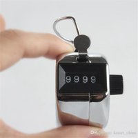 Wholesale silver Hand Tally Counter metal counter digit Manual export counters Pressing the manual counter People Counting with retail box
