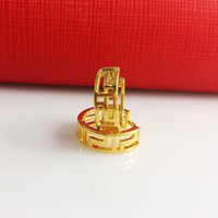 Wholesale Earring retails K Gold Filled Women jewelry Lady Smooth Fashion Jewelry mm mm hot sales xmas gifts