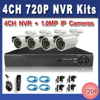 Wholesale 4CH CCTV System P HDMI NVR MP IR Outdoor P2P IP CCTV Camera Security System Surveillance Kits