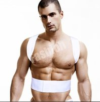 Wholesale Power Magnetic Posture Support Body Back Shoulder Brace Corrector Belt Therapy Adjustable Unisex S M L XL XXL White For Man DHL Free