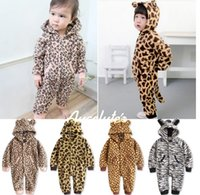 Wholesale Good Quality Animal Grain Baby Romper Thicken Coral Fleece Toddler Homewear Romper Style In Stock Infant One Piece Clothes WD367