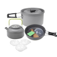 aluminum oxide ceramics - Aluminum Oxide Outdoor Camping Pot Set Hiking Backpacking Cookout Picnic Cookware Teapot Coffee Kettle Set All in One