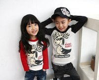 raglan shirt - 2015 New style kids clothing spring autumn children t shirts super dog of full seal raglan splicing boys girls t shirt GH198