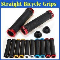 Wholesale 1 Pair MTB Mountain Bike Bicycle Sport Bike Grips Double Lock On Handlebar Grips Ends Bent Bar Ends BMX Cycling Road Handlebar