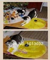 Wholesale Cats Meow Yellow Undercover Fabric Moving Mouse Cat Play Cat s Toy