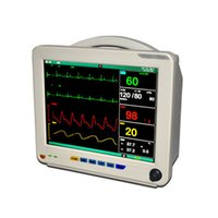 Wholesale DHL Shipping ICU Patient Monitor Large Screen ECG NIBP PR Spo2 Temp Resp GUARANTEE