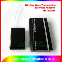 audio recorder desktop - Mini Wireless Voice Transmission Receiver Audio Sound Recorder Transmitter Monitor MP3 Player m