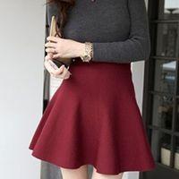 best skaters - Best Sexy Pleated Mini Skirt Womens Skater High Waist Winter Stretch Short Skirt