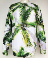 bamboo coconut - 2014 New women sweatshirts men hoodies coconut trees lifelike tracksuits mens D sweatshirt pullover sport suit women brand