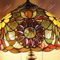 antique art deco lamps - European pastoral American country bedroom bedside lamp tiffaoiy Sunflower Creative Antique Art Deco lamp