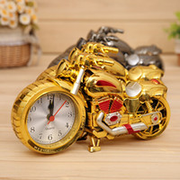 Wholesale Retail Retro Motorcycle Alarm clock Fashion Desk Table Clocks Home Furnishing Decor Gifts Handicraft Ornaments