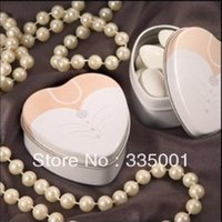 Cheap wedding favor--Dressed to the Nines - Wedding Dress Mint Tin which is used as candy packing