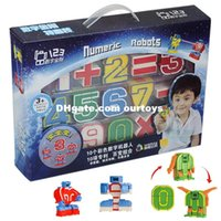 Plastic baby magic boy - Educational BB Toys child magic number transformer robot digits puzzle boy toy Christmas Gift for baby Kids